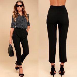 NWT Lulus Kick It High Waisted Trouser Pant